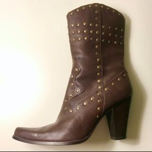 Steven by Steve Madden Studded Cowgirl Boots